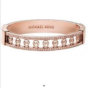 Michael Kors Monogram Rose Gold Bangle Bracelet